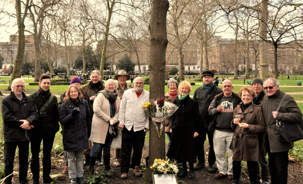 The Ewan MacColl memorial tree in 2018